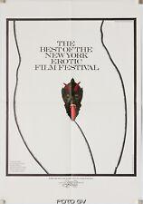 Original-Filmplakat A2 BEST OF THE NEW YORK EROTIC FILM FESTIVAL Warhol