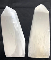 "4"" Selenite Obelisk Crystal Quartz Natural Stone ( 2 Pieces )"