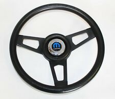 70-76 Dodge Dart Charger Demon Black Steering Wheel with black spokes13 3/4""