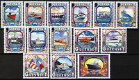 Guernsey 1999, Boats, Ships set VF MNH, Mi 819-832 cat 11€