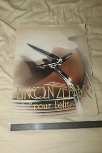 (81) Large Brochure Catalogue LINCOLN ZEPHYR pour l'élite / MATFORD FRANCE 1936