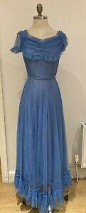 "Vintage1940s/50s Marshall & Snelgrove Prom Party Dress 17"" armpit to armpit"