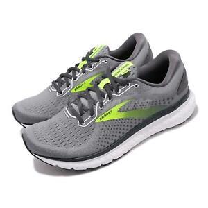 Brooks Glycerin 18 Grey White Green Mens Road Running Shoes Runner 110329-1D-025