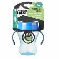 Tommee Tippee 360 Mealtime Training Cup 7m+ Blue 1 2 3 6 12 Packs