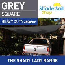 Square GREY 4.5m X 4.5m Shade Sail Sun Heavy Duty 280GSM GREY 4.5X4.5M