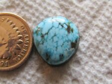 Turquoise Cabochon 8.1 carat Cab Unknown Origin Mystery Web Blue Green Boulder
