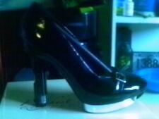 "Highest Heel Collection Gun Pistol 6"" Heel BLACK PATENT DRAG Shoes Size 11"