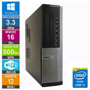 PC Dell 7010 DT Core i3-3220 3.30GHz 16Go/500Go Wifi W10