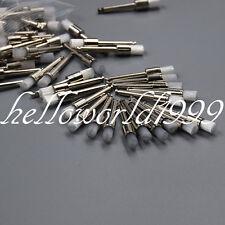 50 PCS  White Dental Prophy Brush Polishing Polisher Brush Nylon Latch Flat Type