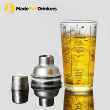 New listing Recipe Cocktail Shaker - Margarita,Cosmopolitan,Bl oody Mary,Pina Colada,Mai Tai