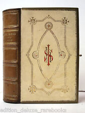 COMMON PRAYER BOOK Leather CLASPED Fine BINDING Christianity HYMNS Bible CHURCH