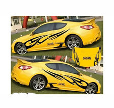 Black   Graphics Decal Stickers Flame Fire Totem Car Styling Whole Body