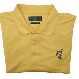 Disney Mickey Mouse Men's XL Yellow Performance Golf Tour Stretch Polo