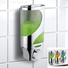 Wave Luxury Soap, Shampoo, Lotion Modular- Design Shower Dispenser Wall- Mounted