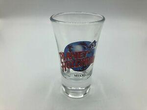 """Planet Hollywood MIAMI Shotglass 3-1/2"""" Tall  V7"""