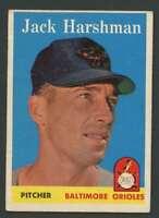 1958 Topps #217 Jack Harshman VG/VGEX Orioles 21764