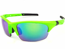 DIRTY DOG sports ECCO Sunglasses Fluro Green/ Green Fusion Mirror Lenses 58061