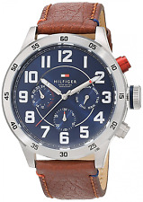 Tommy Hilfiger Watches Herren-Armbanduhr Analog Quarz Edelstahl Leder 1791066
