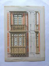 BOW WINDOW L.BERTIN GRAVURE originale LA MENUISERIE MODERNE  XIXème