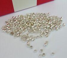 250 pce Silver Tone Barrel Crimp Beads 2mm Jewellery Making Craft