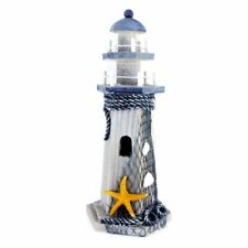 """Starfish Wooden Lighthouse 10"""" High Nautical Themed Rooms Lighthouse Home Decor"""