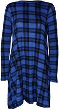 Vestiti da donna a manica lunga tunica blu