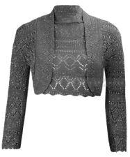 T24 mujer crochet tejida Metalizadas Lurex manga larga talla grande