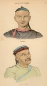 Smith's - Human Species -1852- MONGOLIC RACES - TAHTAR