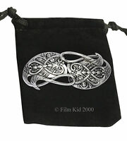 Gandalf Silver Plated Brooch Hobbit LOTR Leaf Lorder Lord of the Rings Pin Badge