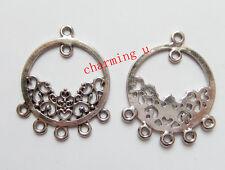 4pz basi per orecchini LINKS 35x28mm colore argento tibet