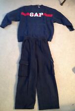 GAP Boys Blue Sweatpants Size 7-8 And Sweatshirt Size Large