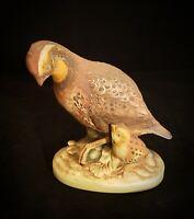 Vintage Bobwhite Quail w/ Chick Porcelain Figurine Andrea by Sadek Porcelain