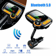 Car Bluetooth Wireless FM Transmitter MP3 Player Radio Adapter Kit 2 USB Charger