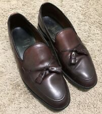 Allen Edmonds Grayson Cordovan Burgundy Tassel Loafers Dress Shoes 10 E Wide
