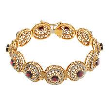 Armbänder mit Edelsteinen echten natürliche aus mehrfarbigem Gold für Damen