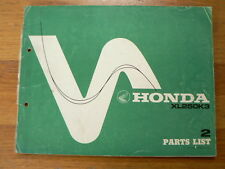 HONDA PARTS LIST XL250K3 OFF-ROAD MX 1976 NO 2  MOTORCYCLE MOTORRAD