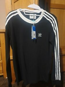 Ladies Uk Size 10 Long Sleeved Black Adidas Top brand new girls woman