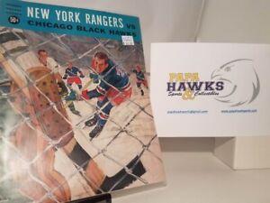 1964-65 New York Rangers vs. Blackhawks Vintage program! RARE