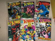 6 UNCANNY X-MEN COMICS No's 262 263 264 265 275 283 (1990/1991) NM MARVEL COMICS