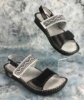 Alegria Womens Sandals Black Leather Upper & Lining Adjust Straps Size 38 US 8.5