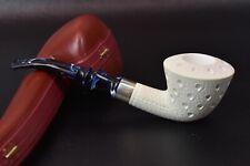 Medium Lattice Dublin Pipe By Tekin-new-block Meerschaum Handmade W Case#477