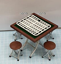 Miniatures Hong Kong Mah Jong + Table & Chairs - T For Candy , h#