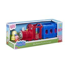 Peppa Pig Toy Miss Rabbit's Train & Carro Inc Peppa & Miss Rabbit Figura Nueva