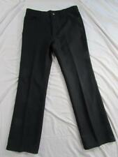 Wrangler 82BK Sta Prest Pants Tag 36x32 Measure 35x32 Polyester Dress Slacks