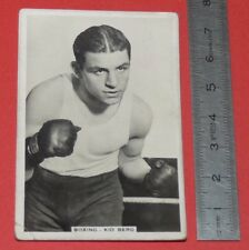 BOXING CIGARETTE CARD SPORTING EVENTS & STARS 1935 BOXE JACK KID BERG WELTERS