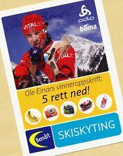 Ole Einar Björndalen (14) Autograph Picture Large Format 15 x 21 + Ski AK FREE