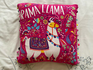 Pink Drama Llama Girls Cushion