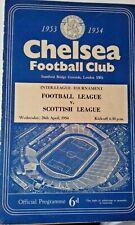 More details for football league v scottish league programme 28th april 1954 @ stamford bridge .