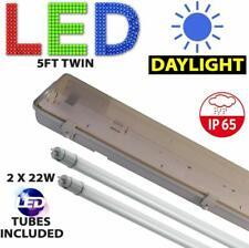 5FT Twin Led Striscia di Luce Fluorescente resistente alle intemperie RACCORDO Inc TUBI A LED 6000K