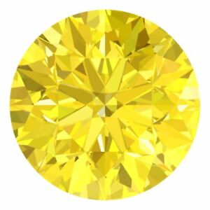 3.2 MM CERTIFIED Round Fancy Yellow Color VVS 100% Real Loose Natural Diamond #B